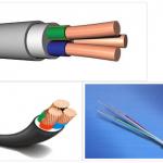 Виды электрического кабеля