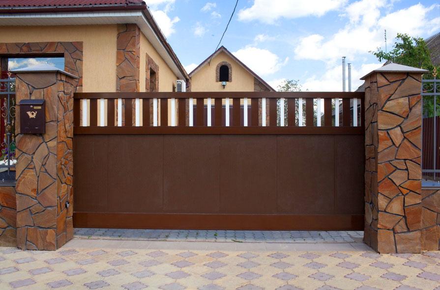 Дизайн для откатных ворот