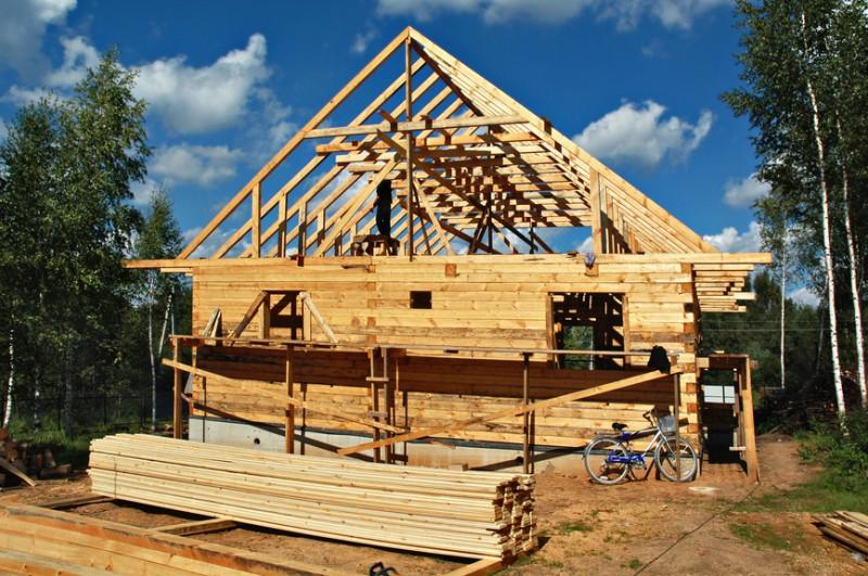 Výstavba domu z baru