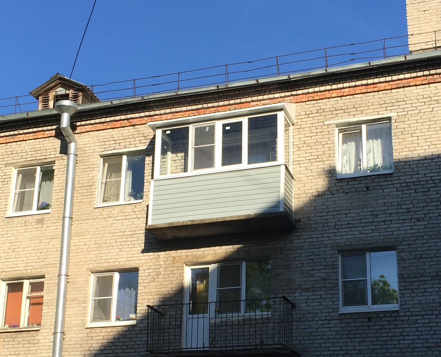 Теплое остекление балконов в хрущевке с выносом..