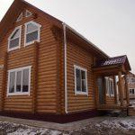 Живой дом из оцилиндрованного бревна