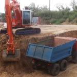 Разработка котлованов экскаваторами с вывозом грунта